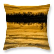 Sunset Riverlands West Alton Mo Sepia Tone Dsc03319 Throw Pillow