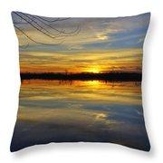 Sunset Riverlands West Alton Mo Dsc03329 Throw Pillow