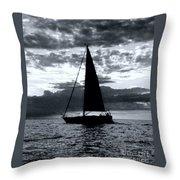 Sunset Sailing -2 Throw Pillow