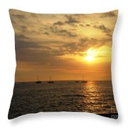 Sunset Sailing Throw Pillow