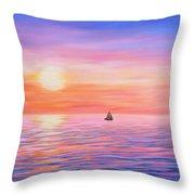Sailing Toward The Lighthouse Throw Pillow