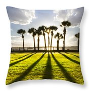 Sunset Sentinels Throw Pillow