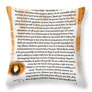 Sunset Serenity Desiderata Poster Throw Pillow