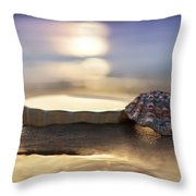Sunset Shells Throw Pillow