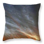 Sunset Sky With Cirrocumulus Clouds Usa Throw Pillow
