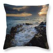 Sunset Spillway Throw Pillow
