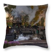 Sunset Steam Throw Pillow