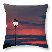 Sunset Streetlight Throw Pillow
