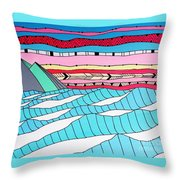 Sunset Surf Throw Pillow by Susan Claire