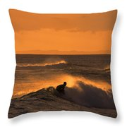Sunset Surfer Throw Pillow