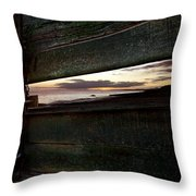 Sunset Throough The Fence Throw Pillow