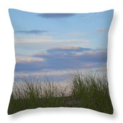 Sunset Through Grass Throw Pillow