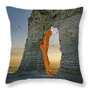 Sunset Through The Keyhole Throw Pillow