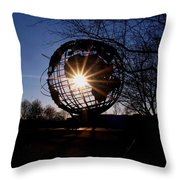 Sunset Through The Unisphere Throw Pillow