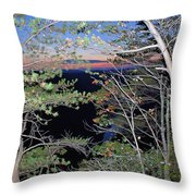 Sunset Thru The Pines Throw Pillow