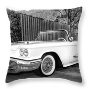 Sunset Thunderbird Bw Palm Springs Throw Pillow