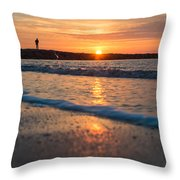 Sunset Tourists Throw Pillow