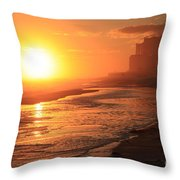Sunset Towers Throw Pillow