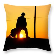 Sunset Tunnel Throw Pillow