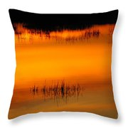 Sunset Tupper Lake Throw Pillow
