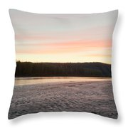 Sunset Twilight Over Taiga At Yukon River Canada Throw Pillow