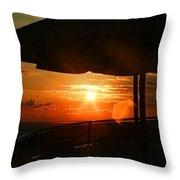 Sunset Under The Umbrella By Diana Sainz Throw Pillow