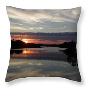 Sunset Up The Sebec Throw Pillow