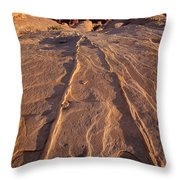 Sunset Valley Of Fire State Park Nevada Throw Pillow