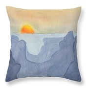 Sunset Valley Throw Pillow