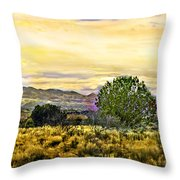 Sunset Verde Valley Thousand Trails Throw Pillow
