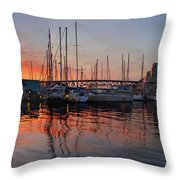 Sunset View From Charleson Park In Vancouver Bc Throw Pillow