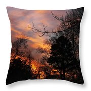 Sunset View From The Path Throw Pillow