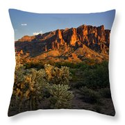 Sunset View Of The Superstitions  Throw Pillow