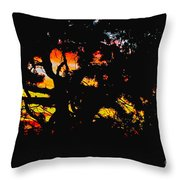 Sunset Viewed Through A Tree Throw Pillow