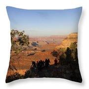 Sunset Vigil Grand Canyon Throw Pillow