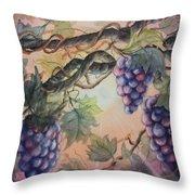Sunset Vineyard Throw Pillow