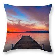 Sunset Walkway Throw Pillow
