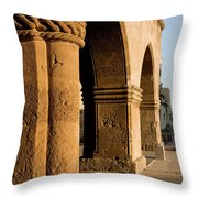 Sunset Wall Of The Old City Throw Pillow