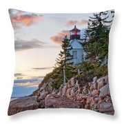 Sunset Watcher - Bass Harbor Head - Maine Throw Pillow