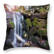 Sunset Waterfalls In Marlay Park Throw Pillow