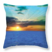 Sunset Waters Throw Pillow