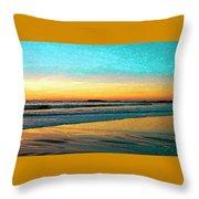 Sunset With Birds Throw Pillow