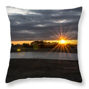 Sunset With Flair Throw Pillow