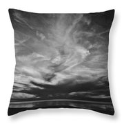 Sunset With No Color Throw Pillow