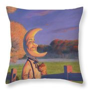 Sunset With Oliver Throw Pillow by Richard Moore