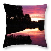 Sunset With Reflection Throw Pillow
