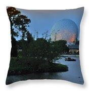 Sunset World Showcase Lagoon Throw Pillow