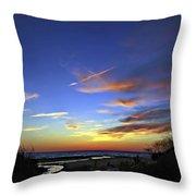 Sunset X Throw Pillow