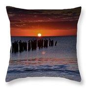 Sunset...naples Style Throw Pillow