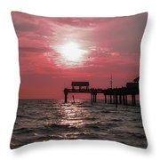 Sunsetting On The Gulf Throw Pillow